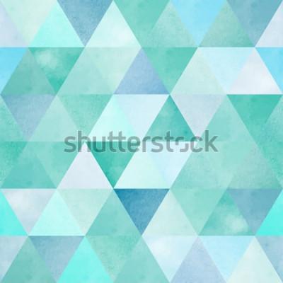 Nálepka akvarel bezešvé vzor s vintage geometrický trojúhelník