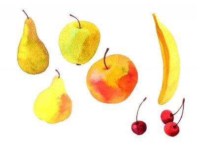 Nálepka akvarel kreslení ovoce