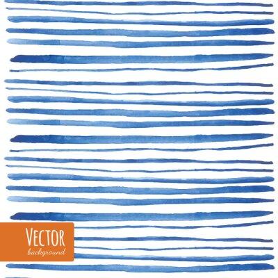 Nálepka Akvarel modré proužky v vektoru.