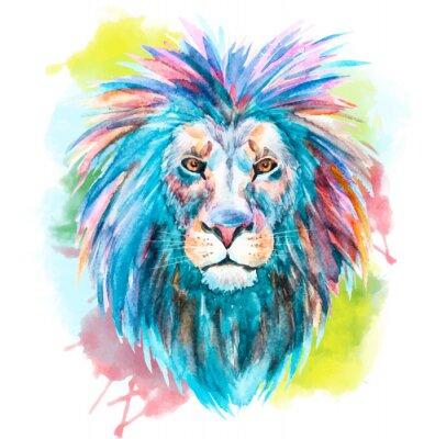 Nálepka Akvarel vektor lev
