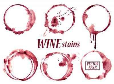 Nálepka Akvarel víno skvrny ikony