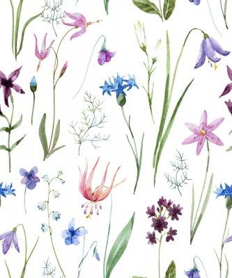 Nálepka Akvarel vzor divokých květin