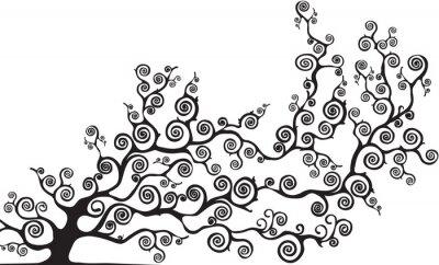 Nálepka albero con Rami curvi