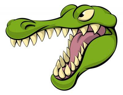 Nálepka Aligátor nebo krokodýl kreslená postavička