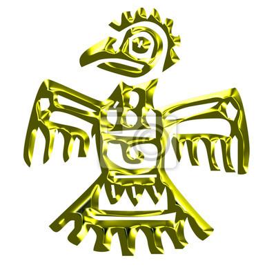 Americká kultura zlato ikona
