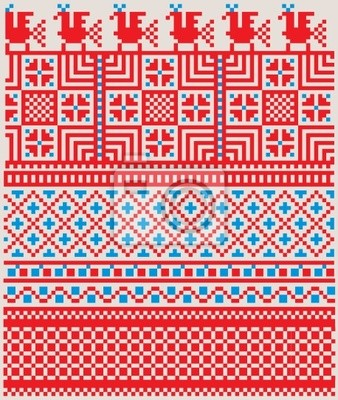 Americký textilní vzor