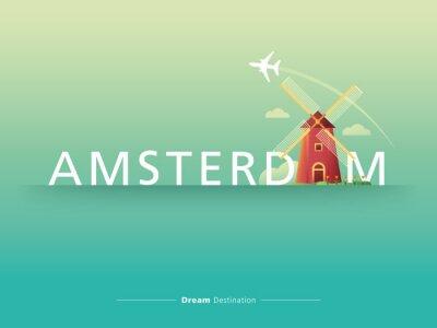 Nálepka Amsterdam typografie