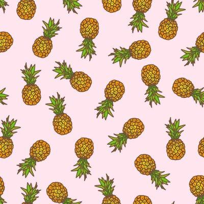 Nálepka Ananas bezešvé pozadí.