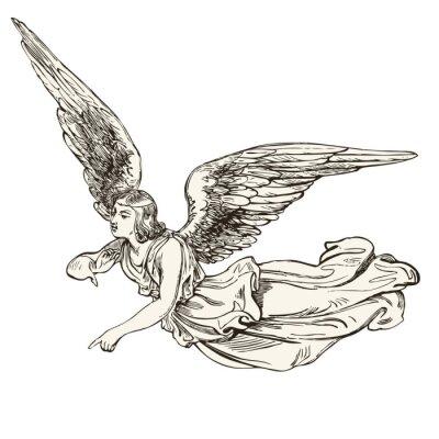 Nálepka anděl