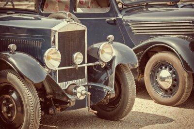 Nálepka Antique cars, vintage process