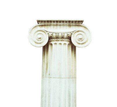 Nálepka Antique sloupec v stylu Doric postaven