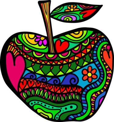 Nálepka Apple Doodle