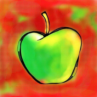 Nálepka Apple Painting