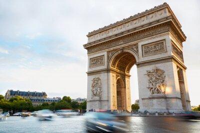 Nálepka Arc de Triomphe in Paris afternoon