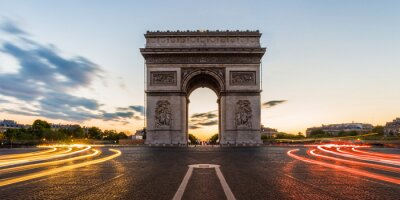 Nálepka Arc de Triomphe v Paříži