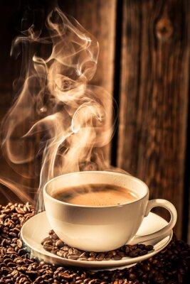 Nálepka Aroma šálek kávy s praženými semínky