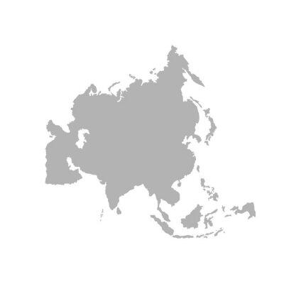 Nálepka Asia outline world map - Vector