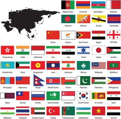 Nálepka Asian flags