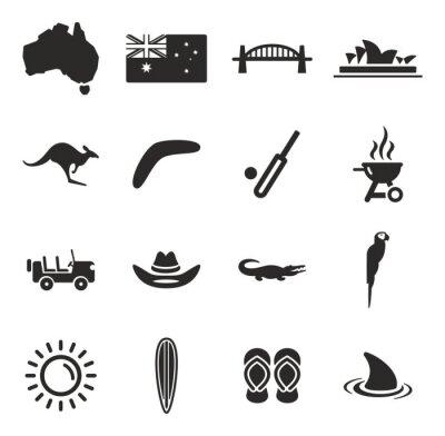 Nálepka Austrálie Ikony