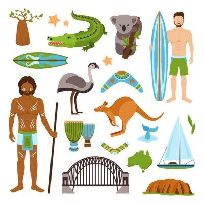 Nálepka Austrálie Ikony Set