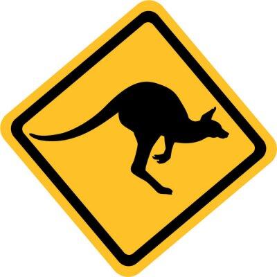 Nálepka Austrálie klokan znamení