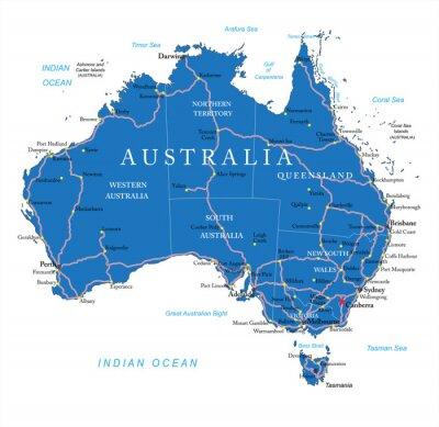 Nálepka Austrálie silniční mapa