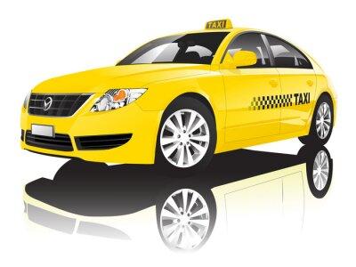 Nálepka Auto Cab Taxi Veřejné Shiny Performance Concept