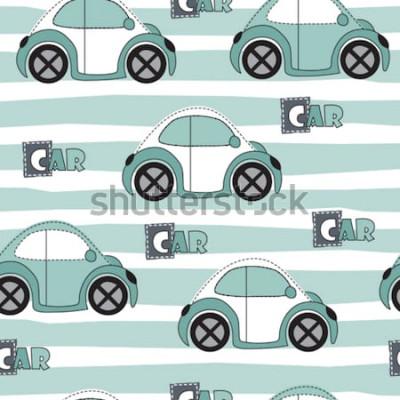 Nálepka auto vzor vektorové ilustrace