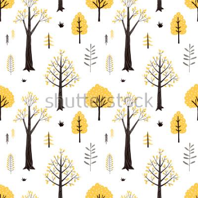 Nálepka autumn forest pattern