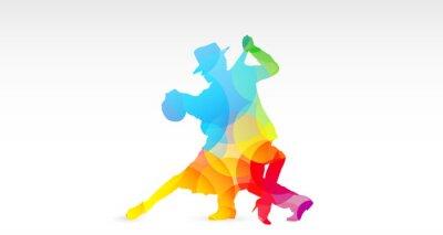 Nálepka Ballerini di tango, colori, fantazie, Danza, Ballerini, tango