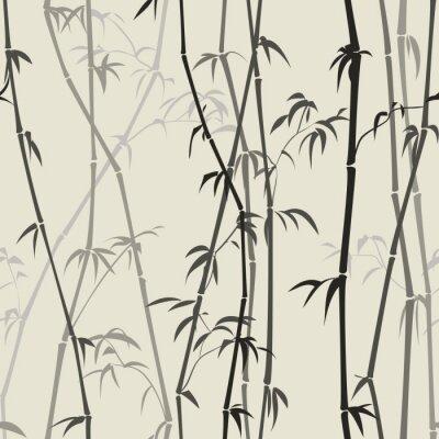 Nálepka bambus pozadí
