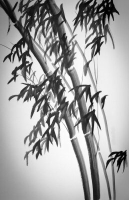 Nálepka bambusové stromy