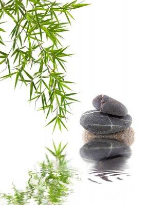 Nálepka bambusu et galets superposés