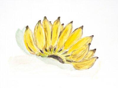 Nálepka banán akvarel malovaný