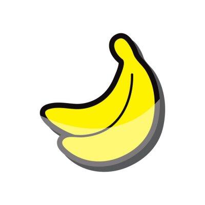 Nálepka banán ikona vektorové ilustrace eps 10