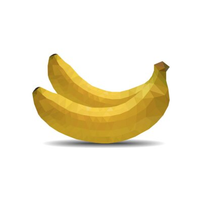 Nálepka banán polygon na bílém pozadí izolovat vektorové ilustrace eps 10