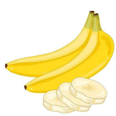 Nálepka Banana izolovaných na bílém pozadí.