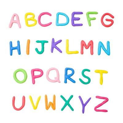 Nálepka barevné abecedy od A do Z