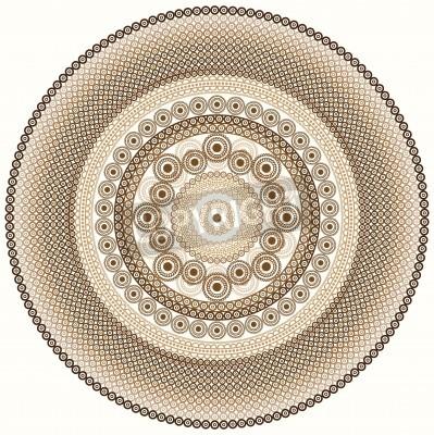Nálepka Barevné Henna mandala designu