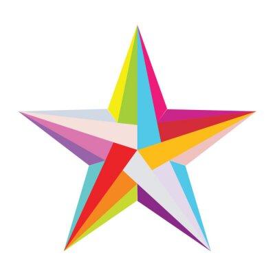 Nálepka barevné hvězdy