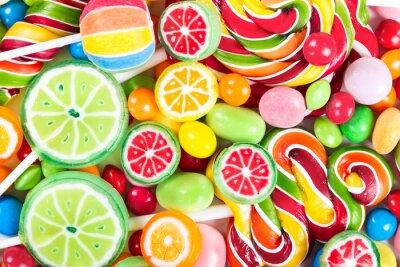 Nálepka Barevné lízátka a cukroví