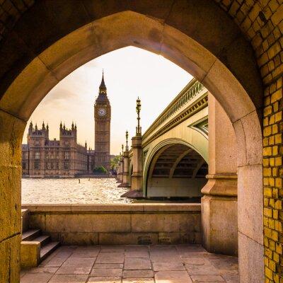 Nálepka Barevný Big Ben - neobvyklý úhel