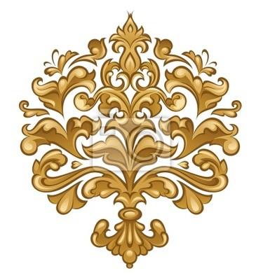 Nálepka Barokní kwiatowy ornament