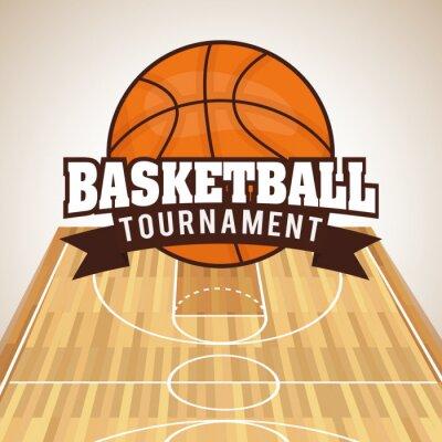 Nálepka Basketbal designu