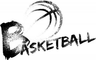 Nálepka Basketbal Grunge pruhy