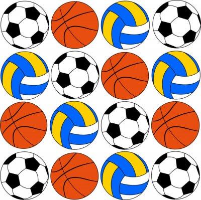 Nálepka basketbal ikony míčů a volleyballs