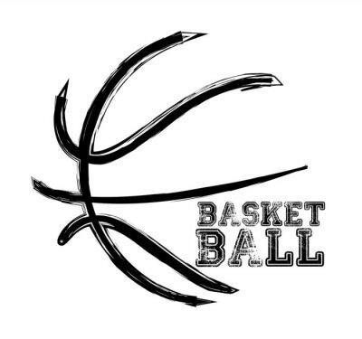 Nálepka basketbal sport,
