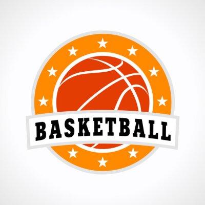 Nálepka Basketbal symbol logo