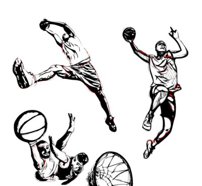 Nálepka basketball trio