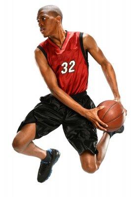 Nálepka Basketbalový hráč Dunking ples